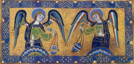 plaque-with-censing-angels_ 1170-1180 france